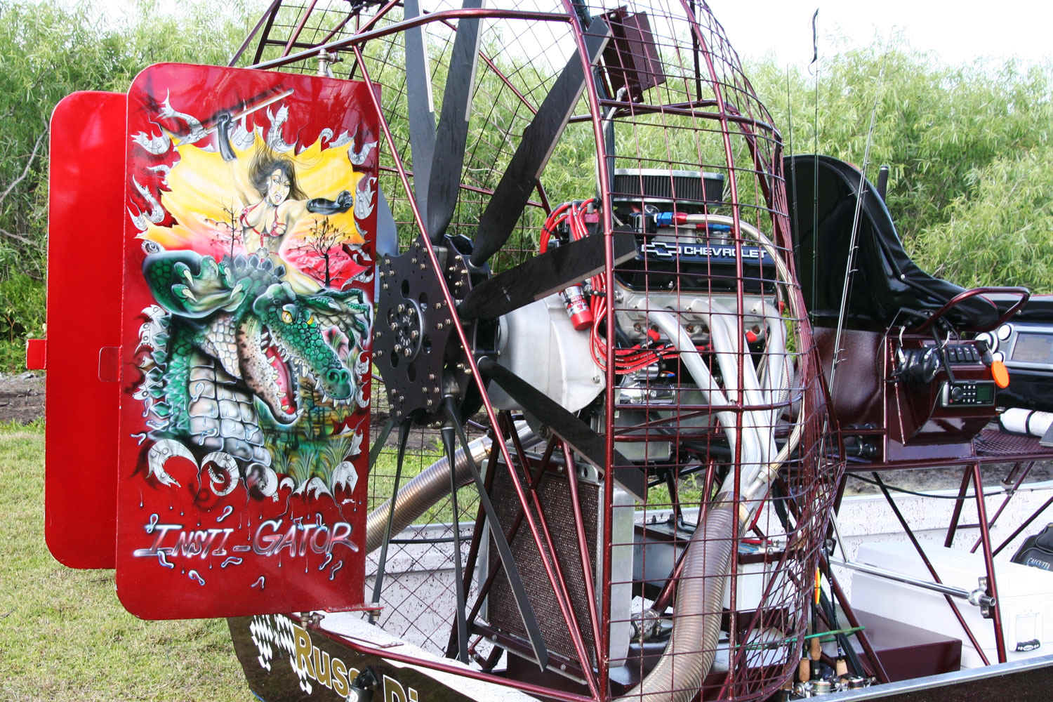 Airboat with Warp Drive Propeller